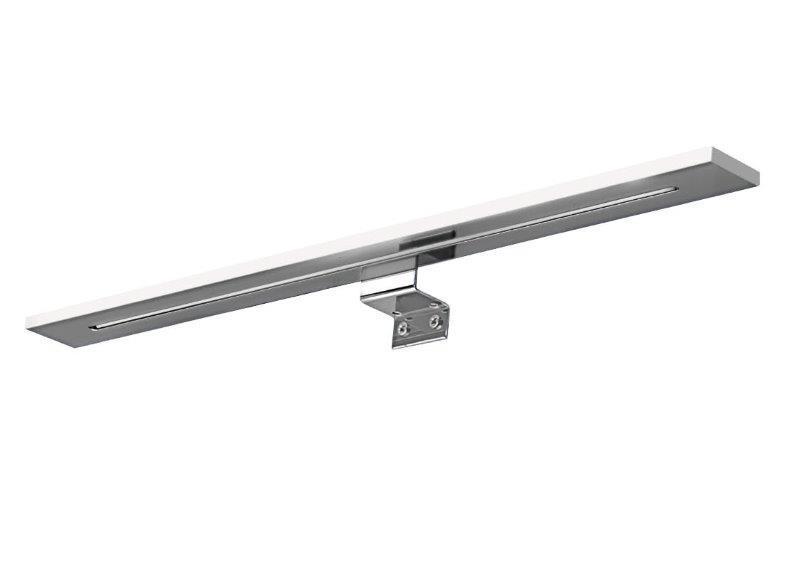 Applique lampada led w cm cromo fissaggio a telaio specchio