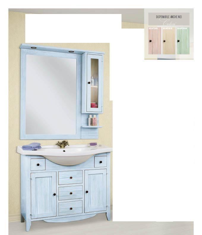 Arredo bagno mobile classico decape 39 azzurro venezia plus - Mobile bagno classico bianco ...
