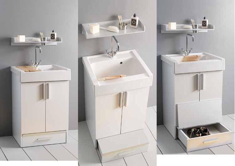arredo bagno mobile lavarredo xilon 60x50 con cassetto contenitore ... - Xilon Arredo Bagno