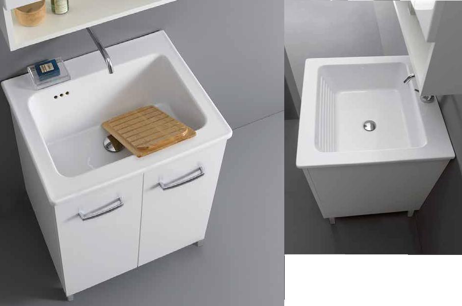 Arredo bagno mobile lavatoio ceramica sil nanco xilon cm for Arredo bagno costi