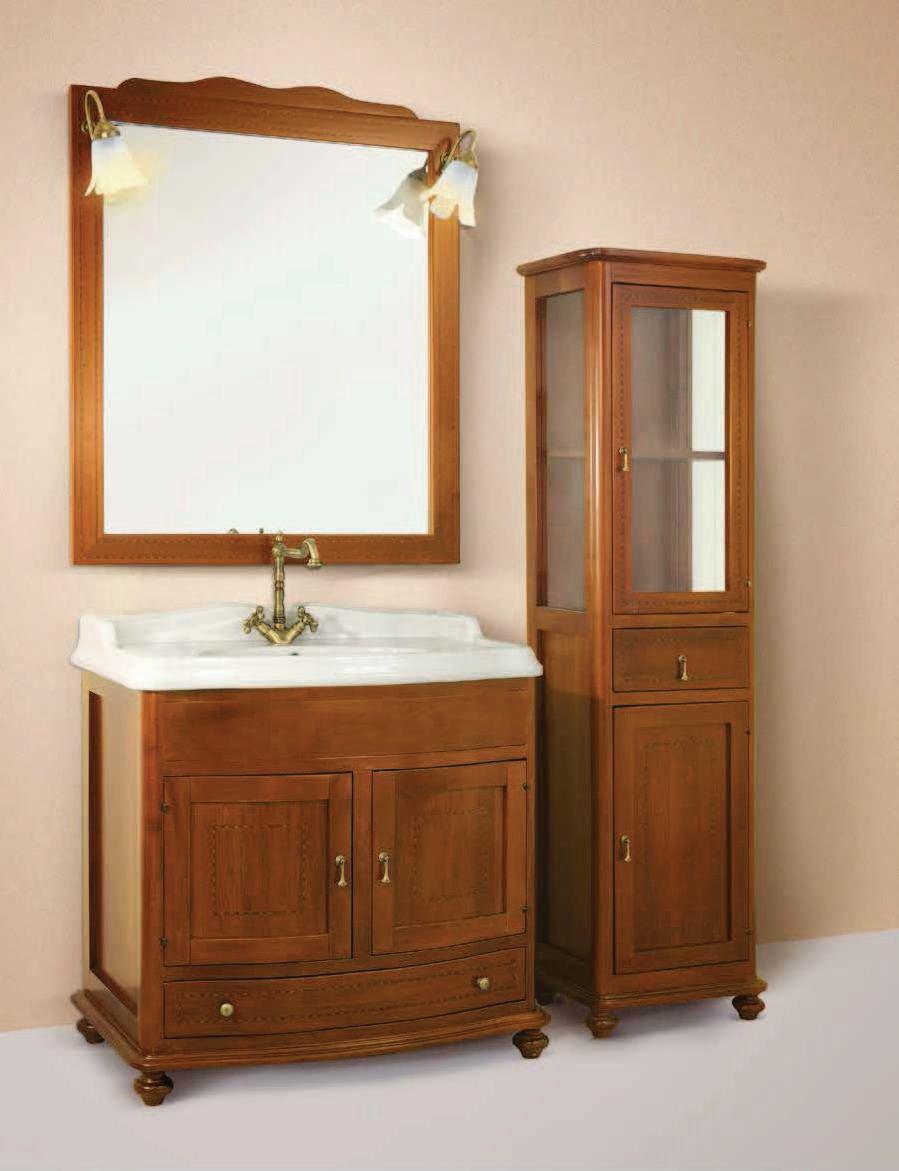 Arredo bagno tudor 93 intarsiato vetrinetta non compresa for Arredo bagno occasioni