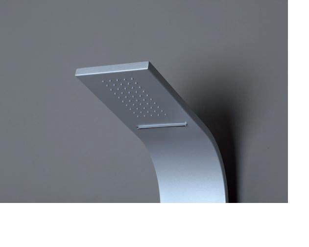 Colonna doccia senna acciaio silver miscelatore soffione pioggia