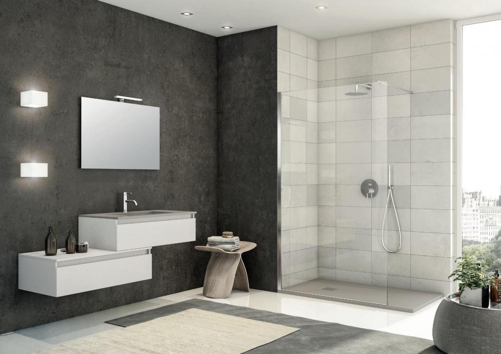 kit sol.5 fornitura completa bagno arredobagno+piatto doccia+box ... - Arredo Bagno Box Doccia