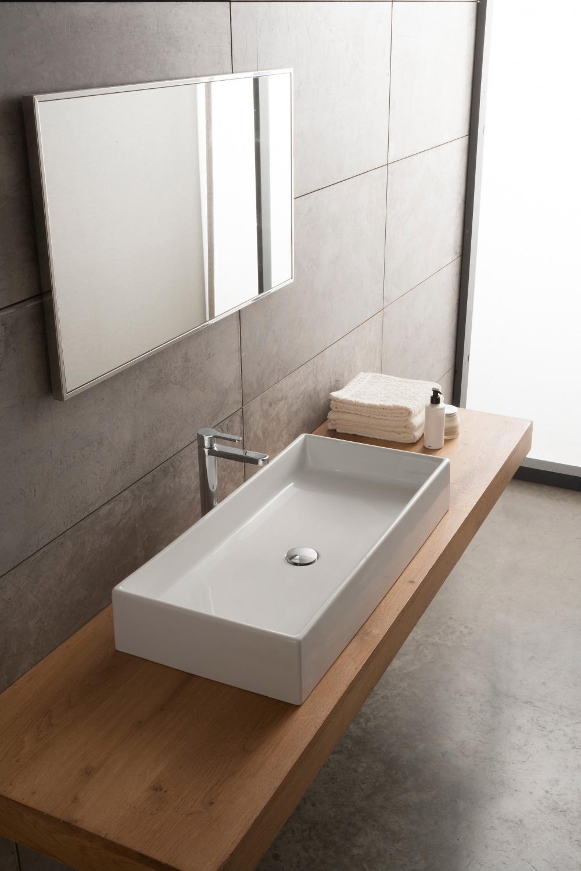 Lavandino rettangolare bagno idee per la casa - Lavandino da appoggio bagno ...