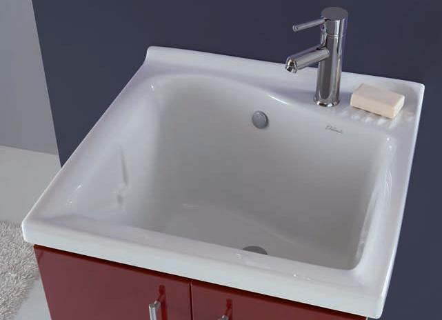 Lavatoio Ceramica Dolomite Lago.Mobile Lavatoio Cm 60x60 Serie Lady Bianco Con Vasca Ceramica Lago Dolomite