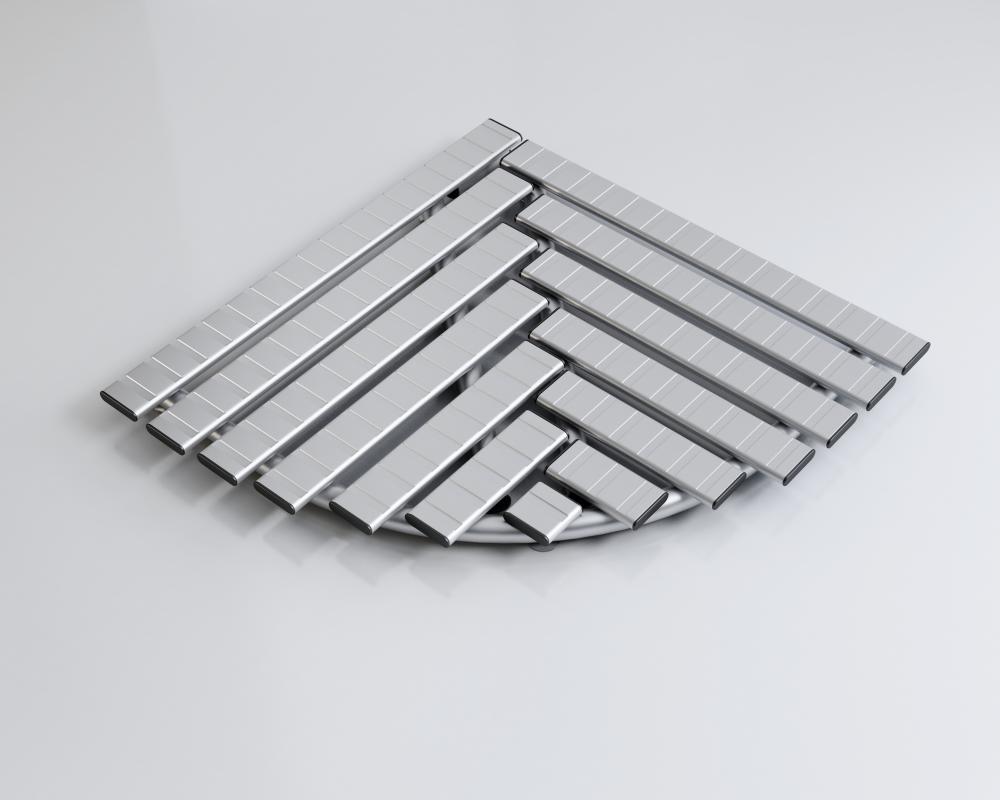 Pedana Per Doccia Plastica.Pedana Doccia In Alluminio Antiscivolo Semicircolare Cm