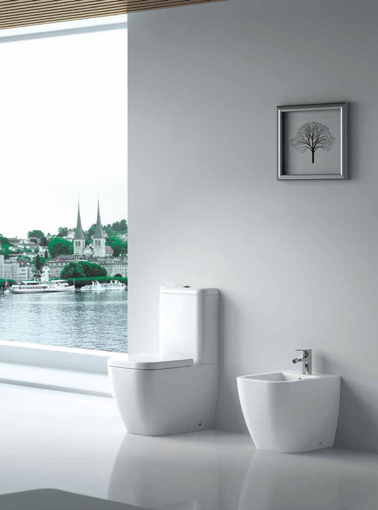 sanitari a terra filo muro legend wc monoblocco sedile soft close bidet bianchi. Black Bedroom Furniture Sets. Home Design Ideas