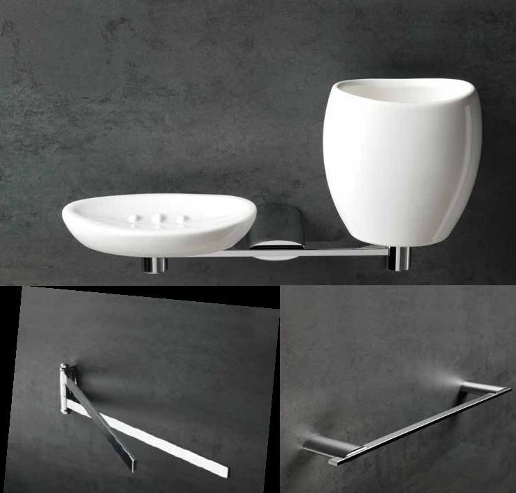 Set 5 pezzi accessori bagno aria ottone cromato garanzia 5 anni - Accessori bagno in ottone ...