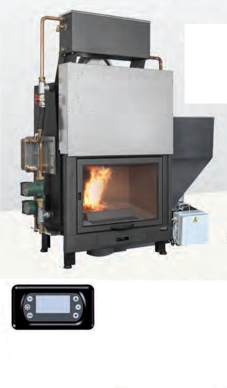 termocamino idro policombustibile a legna pellet k1 r etc